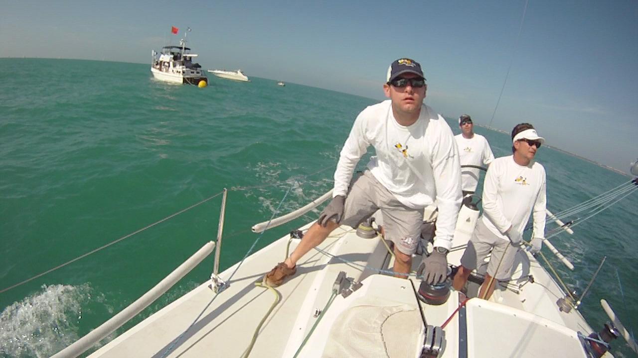 Jon aboard Lucky Dog during Key West Race Week 2011