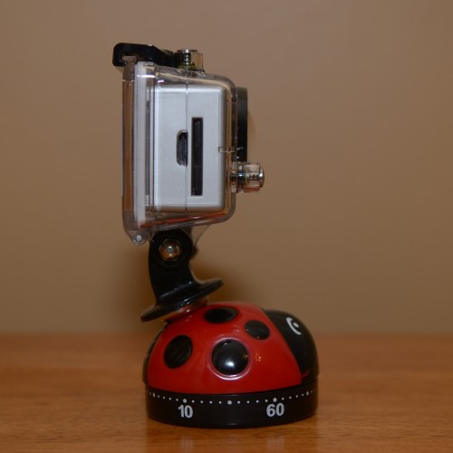 GoPro timer complete from side