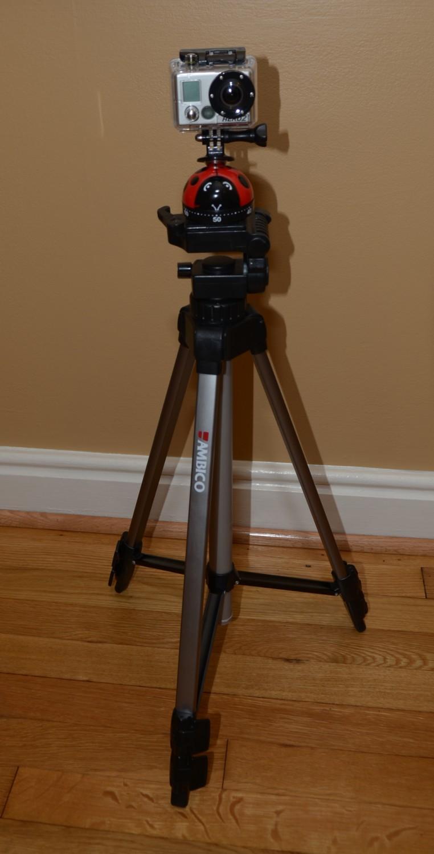 GoPro timer on tripod