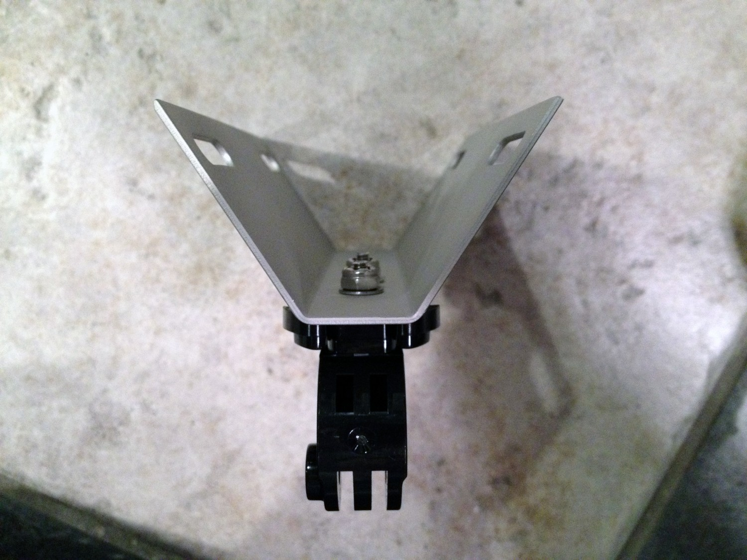 GoPro mast mount from above
