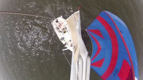 Double Eagle from the top of the mast