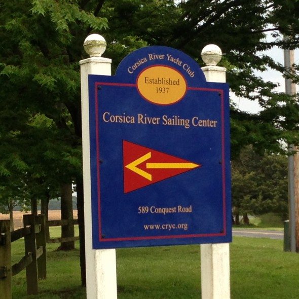 Corisca River Yacht Club Sign