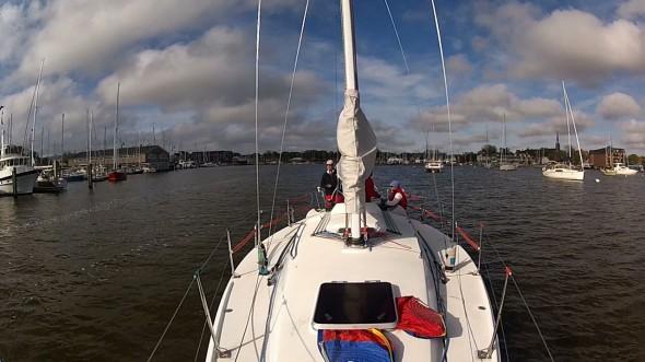 2013 Annapolis NOOD - Saturday - leaving hte harbor