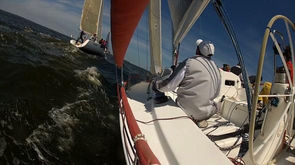 2013 Annapolis NOOD - Friday - Jon Trimming Jib