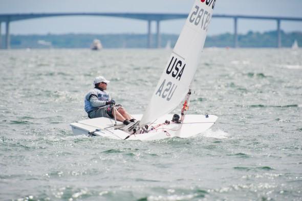 Wickford Regatta Jon Sailing Upwind