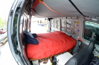 Sprinter Bed looking aft